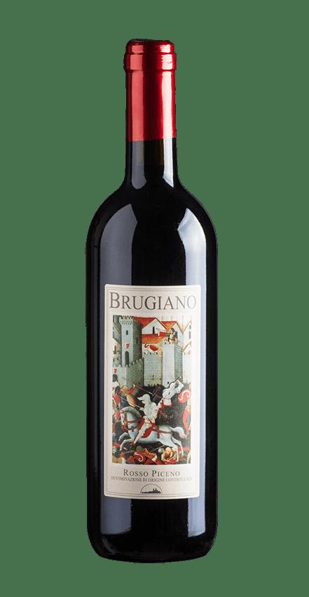 bottiglia di vino brugiano