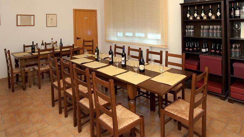 sala degustazione vini terre di san ginesio